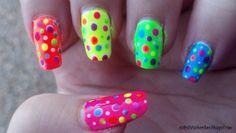 Fancy neon nails!