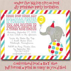 Under the Big Top Circus Tent DIY Printable by oneswellstudio, $22.00
