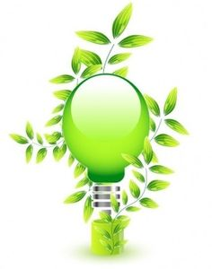 Environmently friendly natural light bulb free vector @freebievectors