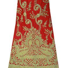Vintage  soie indienne perlée, Art décoratif par queensclub, $29.99