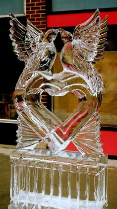 For a key scene in The Unexpected Wedding Guest: What do you do when your wedding has been downgraded to a party.. And you have an ice sculpture of kissing birds? Reese & Mason find out! #Wedding  #IceSculpture