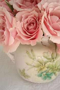 Pink Roses in Vintage Cup by such pretty things, via Flickr