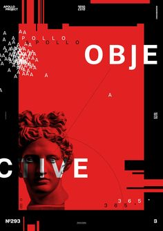 Black, white and red digital creation realized with typography, geometric shapes, and Apollo's picture. Objective is a poster which play with repetition and contrast. Graphic Design Posters, Graphic Design Typography, Graphic Design Inspiration, Red Design, Layout Design, Vaporwave, Plakat Design, Black And White Posters, Black White Red