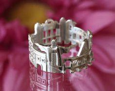 ✩ ✩ de vendedor mejor absoluto Ojo de Londres, London pepinillo huevo edificio Tower Bridge, Buckingham Palace y por supuesto Big Ben - todo esto para que su dedo. Mejor regalo posible para los amantes de Inglaterra. Perfecto como regalo de cumpleaños, regalo de Navidad, regalo de acción de gracias, día de San Valentín de regalo, cualquier ocasión y sin cualquier ocasión :) para ella, para él, para todo el mundo Puede ser 3D impreso en oro, platino o plata. !!! Atención!!!!!! ✔ no acepto…