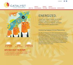 Catalyst Clinical Resourcing brand, identity system, website, powerpoint by Designbox. #designboxweb #designboxbrand #designboxprint #catalystcr