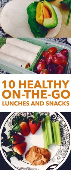 10 Healthy Lunches and Snacks for When You're On the Go