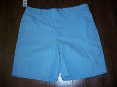 NWT CHAPS LIGHT BLUE CASUAL SHORTS, SZ 40. EXCELLENT CONDITION! #Chaps #CasualShorts