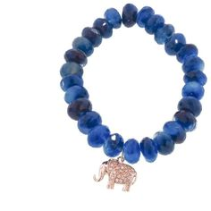 Diamond Elephant On Dark Blue Chalcedony