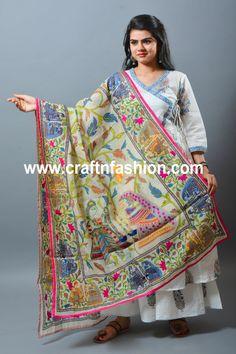 Kalamkari Designs, Kurta Designs, Blouse Designs, Angrakha Style, Embroidered Kurti, Printed Kurti, Best Wear, Indian Ethnic Wear, Summer Wear