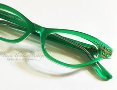Cat Eye Glasses, Optical Frames, Vintage Green, Eyeglasses, Crystals, Beautiful, Brass, Bright, French
