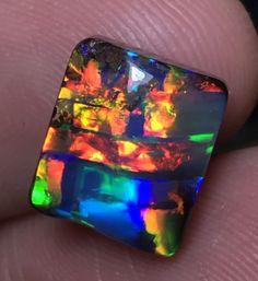 7.4ct Gem Boulder Opal Stone  NATURAL BOULDER OPAL FROM QUEENSLAND AUSTRALIA, BOULDER OPAL GEMSTONE  AT OPALAUCTIONS.COM