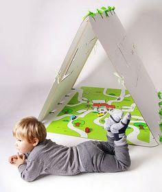 carpa de cartón/cardboard tent