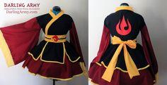 Azula Fire Nation Cosplay Kimono Dress by DarlingArmy.deviantart.com on @deviantART