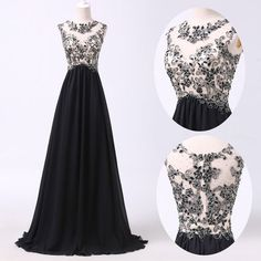 2015 Masquerade Black Evening Homecoming Prom Bridesmaid Party Gown Long Dresses