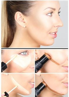 Highlight & Contour. You can achieve bright summer look with the right colors and makeup techniques. Use the contouring and the highlighting makeup technique to brighten your skin. See how :) #makeup # contouring