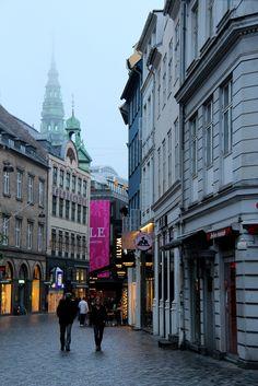 Copenhagen, Denmark  A walking street - no cars allowed