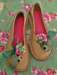 VERITY UK 7 Vintage Fairy handmade shoes D fitting by Fairysteps, £114.00