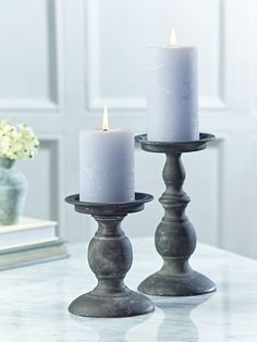 antique blue metal candle holder | pillar candle small linen pillar candle small cox cox see more 4 1 ...