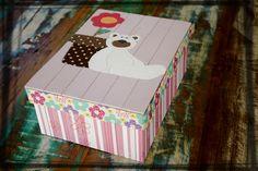 caixa  patchwork