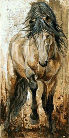 I am completely breath taken by this painting by Elyse Genest. The dusty and tough feel of the horses structure and surrounding is ever so elegant. I can't get over the muscular, strong, free feeling of the horses structure. Painted Horses, Arte Equina, Horse Drawings, Equine Art, Horse Love, Animal Paintings, Horse Paintings, Horse Artwork, Oil Paintings