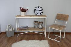 Konsole, Holztisch, Industrial  von Woodenfactory auf DaWanda.com