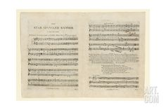 First Edition of the Sheet Music for 'The Star Spangled Banner. a Pariotic (Sic) Song',… Giclee Print