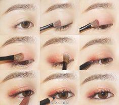 Best makeup tutorial korean eyebrows ideas Best makeup tutorial korean e Makeup Inspo, Makeup Inspiration, Makeup Tips, Beauty Makeup, Korean Makeup Look, Asian Eye Makeup, Korean Eyebrows, Make Up Tutorial Contouring, Eyebrow Tutorial