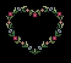 Thrilling Designing Your Own Cross Stitch Embroidery Patterns Ideas. Exhilarating Designing Your Own Cross Stitch Embroidery Patterns Ideas. Cross Stitch Boards, Cross Stitch Heart, Simple Cross Stitch, Cross Stitch Flowers, Pagan Cross Stitch, Counted Cross Stitch Kits, Cross Stitch Freebies, Cross Stitch Bookmarks, Embroidery Hearts