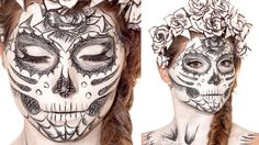 Sugarskull Sketch Makeup Tutorial