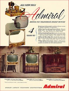ADMIRAL, 1954.