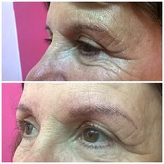 Microblading (embroidery) by reshaping an eyebrows we can  make a person look 10 years younger. Love Microblading love pretty brows