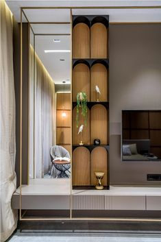 Tv Unit Interior Design, Niche Design, Flat Interior, Apartment Interior, Bedroom Tv Unit Design, Home Room Design, Living Room Designs, House Design, Modern Luxury Bedroom