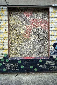 roger hyland, blender lane, street art