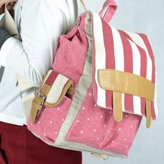 Striped Buckled-Side Backpack from #YesStyle <3 Miss Sweety YesStyle.com