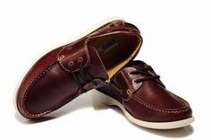 Timberland Authentic Classic-2 Eyed Boat Shoe Wine Red For Men Market Price:$99.99