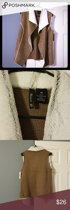 NWT!! New Directions Suede Faux Fur Vest Absolutely stunning suede vest. Faux Fur collar and inside lining making it extra soft.  Got this as a gift and its just to big.  I will be getting another in a smaller size... it's that fabulous. 😊 New Directions Jackets & Coats Vests