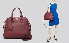Tory Burch Satchel - Robinson Pebbled Open Dome