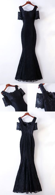 Only $118, Elegant Long Black Lace Mermaid Prom Dress Cold Shoulder #MYX18162 at #SheProm. SheProm is an online store with thousands of dresses, range from Prom,Formal,Evening,Black,Long Black Dresses,Black Lace Dresses,Lace Dresses,Long Dresses,Customizable Dresses and so on. Not only selling formal dresses, more and more trendy dress styles will be updated daily to our store. With low price and high quality guaranteed, you will definitely like shopping from us. Click shop now! #blackdress