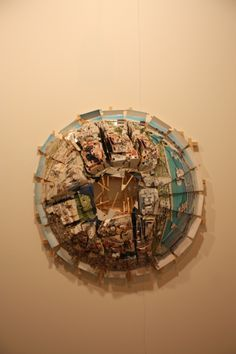 Isidro Blasco Mixed Media Collage, Collages, Sculptures, Chandelier, Inspire, Ceiling Lights, Artists, Architecture, Heart