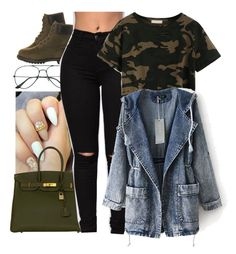 """""""I Wanna Try Sumnn New"""" by b-a-b-y-g-ii-r-l ❤ liked on Polyvore featuring Timberland and Hermès"""