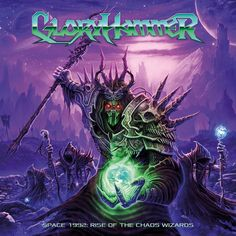 Gloryhammer [Space 1992 : Rise Of The Chaos Wizards]. 2015.  Artwork : Dan Goldsworthy.