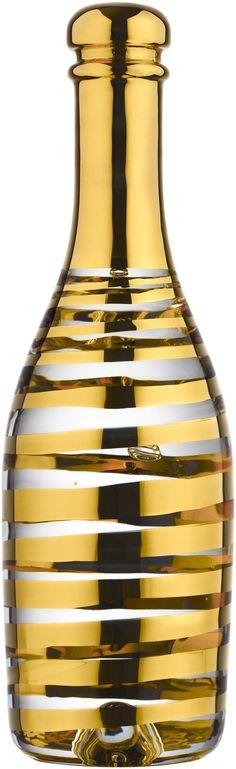 Celebrate Champagne Guld, Celebrate, Kjell Engman, Kosta BodaPrice: € First-Grade! ArtGlassVista has the entire assortment of Kosta Boda. Gold Champagne Bottle, Gold Bottles, Bubble Bottle, Gold Home Accessories, Kosta Boda, Decor Pillows, Touch Of Gold, Bar Tools, Gift For Lover