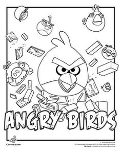 Angry Birds coloring pages.