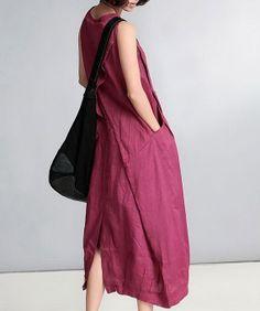 Sleevess Long Ramie Dress