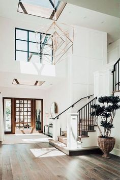 Foyer home house goals aesthetic home interior Mia Bella ♡ Foyer,h. Foyer home house g Dream Home Design, My Dream Home, Simple Home Design, Dream House Plans, Dream Life, Br House, House And Home, Farmhouse Architecture, Stairs Architecture