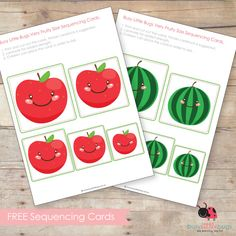 FREE FRUIT SEQUENCING CARDS