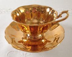 Gold Royal Albert China Tea Cup & Saucer