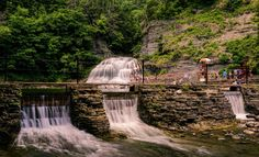 Located in the wine-making Finger Lakes region of upstate New York, the stream-fed pool at Robert Treman State Park lets visitors kick back in the water while admiring the falls.