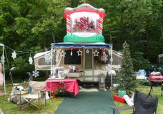 Christmas In July Camping.27 Best Christmas Rvs Images Rv Camping Camper Christmas
