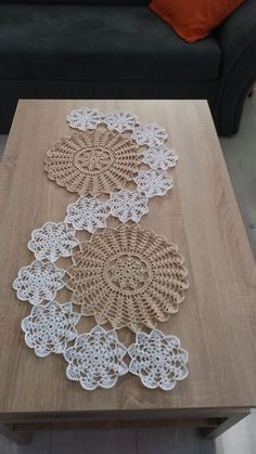 Good evening to all yapt runner s lounge team made the console the middle – ArtofitStudy In Circles Crochet Motif Table Runner PatternHow to Make Crochet Look Like Knitting (the Waistcoat Stitch)christmas color Crochet beaded doilyrunnertablel by h Crochet Elephant Pattern, Crochet Doily Patterns, Crochet Motif, Crochet Doilies, Hand Crochet, Crochet Flowers, Crochet Stitches, Crochet Home, Cute Crochet